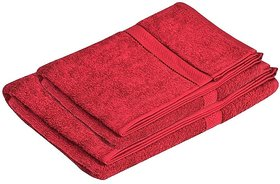 Pipal Maroon Cotton Ladies Gents Bath Towel