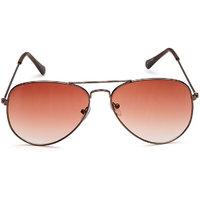 Rico Sordi Brown Aviator UV Protection Sunglass For Men (RSSG016)