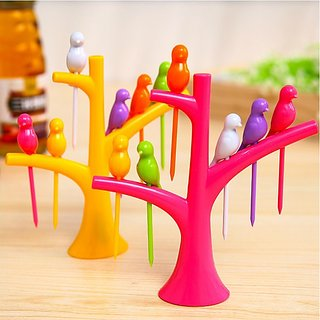 NexGen Birds Fruit Fork Set ( Color may Vary )