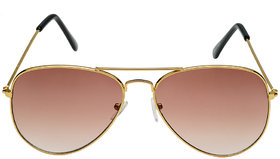 Rico Sordi Golden  Black Uv Protection Mens Aviator Sunglass