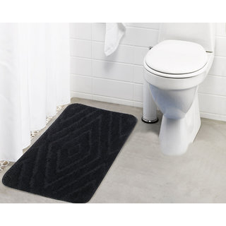 Lushomes Ultra Soft Microfiber Polyester Dark Grey Regular Bath Mat