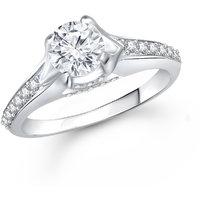 Meenaz Fancy Ring For Girls  Women Silver Plated In American Diamond Cz FR423