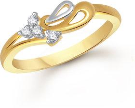 Meenaz Fancy Ring For Girls  Women Gold Plated In American Diamond Cz FR436