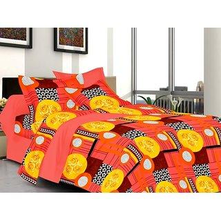 Valtellina Floral Design Multi Color TC-200 Double bedsheet  2 Pillow cover