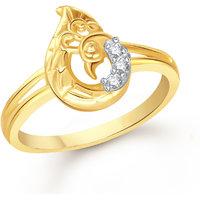 Meenaz Fancy Ring For Girls  Women Gold Plated In American Diamond Cz FR514