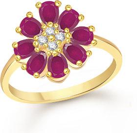 Meenaz Fancy Ring For Girls  Women Gold Plated In American Diamond Cz FR512