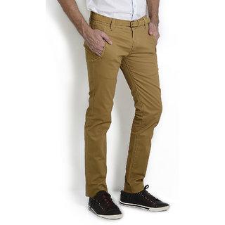 Jeans Mens Slim Fit Stretchable Chinos (Khaki,)