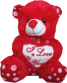Suraj Baby Soft Toy Just For You And I Love U Heart Teddy With Checks 23Cm