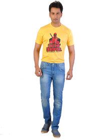 Ave Men's Slim Fit Multicolor Jeans