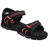 Sparx-106 Black Red Floater Sandals For Men