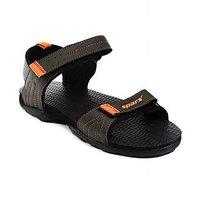 Sparx-704 Olive Orange Floater Sandals For Men