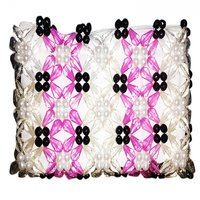Hand Made Crystal Bag For Womens( White  Magenta)