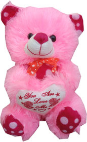 Suraj baby soft toy just for you and i love u heart teddy with checks 28cm