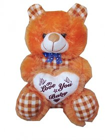 Suraj baby soft toy just for you and i love u heart teddy with checks 33cm