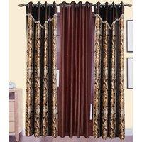 Deepanshi Handloom Door Curtains Set of 3 (7x4 Feet)