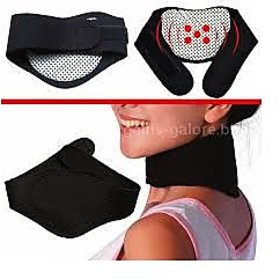 Neck pain reliever,massager,warmer,magnetic therapy neck pad