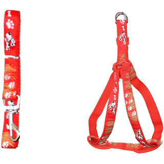 PET CLUB51 HIGH QUALITY IMPORTED HARNESS FOR PUG-RED