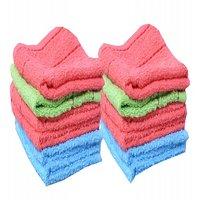 xy decor set of 12 cotton face towel