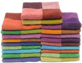 Rich Cotton Set of 20 Cotton Face Towel - Multi Color