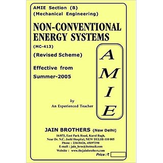 AMIE-Mechanical Engineering Section(B)  Non-Conventional Energy Systems(MC-413)