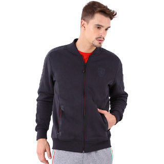 Buy Puma Solid Black Full Sleeve Casual Ferrari Mens Sweat Jacket ... b8ac733e1984