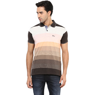 Okane Pink Half Sleeve Polo Neck Casual Wear T-shirts
