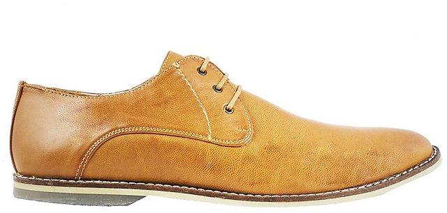 Buy CAPLAND Men Tan Leather Formal