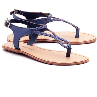 c91b03a41442 Buy NAUGHTY WALK 704 BLUE FLAT SANDALS Online - Get 31% Off