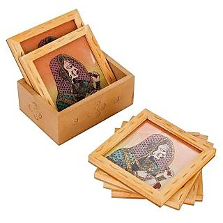 Square Shape Wooden Tea / Coffee Coaster set