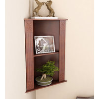 Home Sparkle Carved Corner Shelf (Sh742)