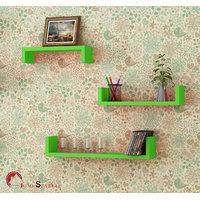 Home Sparkle Set Of 3 Wall Shelves (Sh423)