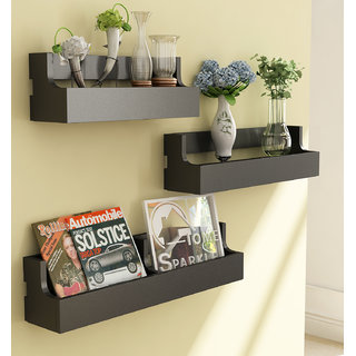 Home Sparkle Set Of 3 Pocket Shelf (Sh731)