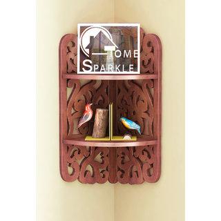 Home Sparkle 2 Tier Carved Corner Shelf (Sh772)