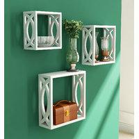 Home Sparkle Set Of 3 Cubes (Sh464)