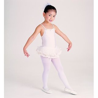 Girls Kids Footed Tights Stockings Legging Ballet Dance 3 to 7 yr White Stocking