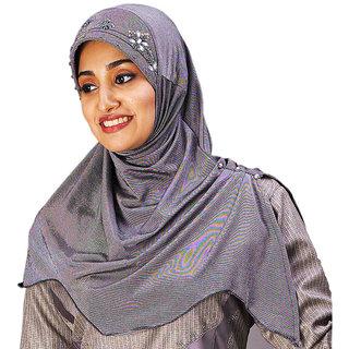 Mawar107 Soft Poly Cotton Hand Work Design Hijab