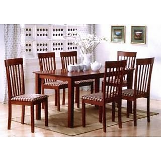 universal 6 Seater Dining Table Sets Brown