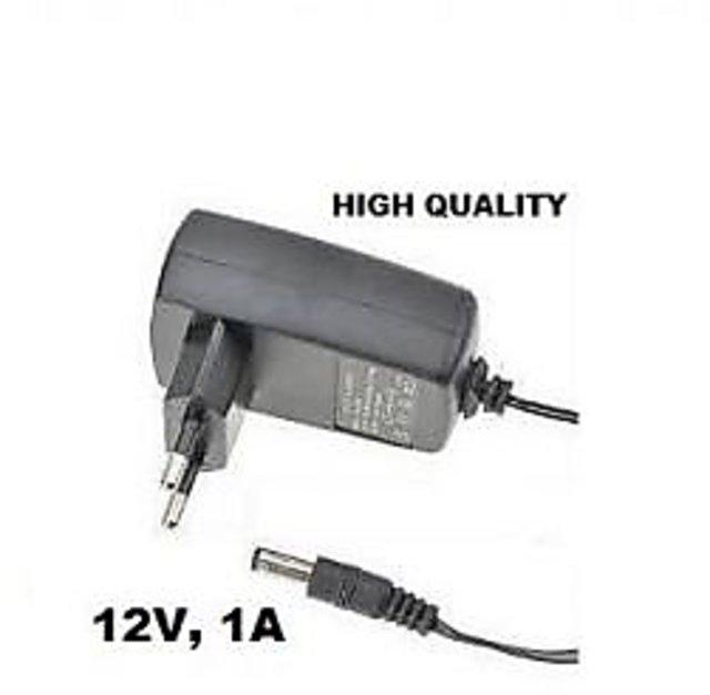 Power Adaptor 12 Volt 1 Amp Charger AC INPUT 100-240V DC OUTPUT 12V 1A