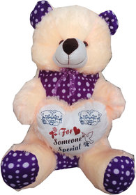 Suraj baby soft toy just for you and i love u heart teddy with checks 35cm