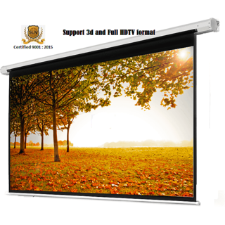 Elcor Wall Autolock Projector Scree Size - 8 Ft. x 6 Ft. In Imported High Gain Fabric with 1.2 Gain