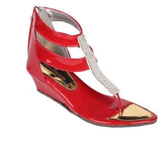 Trilokani Girls Sandals TFC68RED