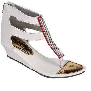 Trilokani Girls Sandals TFC68WHITE