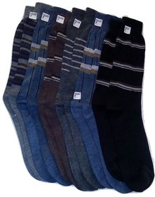 FABLOOK brand  bravo cotton socks pack of 12 pairs,multi colour socks