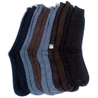 FABLOOK brand  gents woolen socks pack of 12 pairs,multi colour socks
