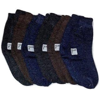 FABLOOK brand  kids woolen  socks 0 to 1 years pack of 12 pairs,multi colour socks
