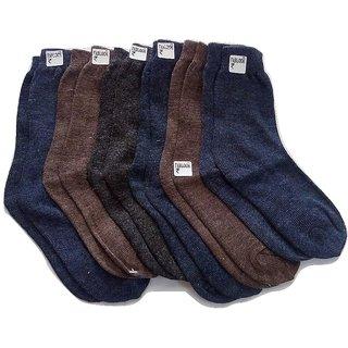 FABLOOK brand  kids woolen  socks 2 to 4 years pack of 12 pairs,multi colour socks