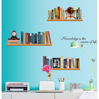 Stickers Arts Personalized Simple Bookshelf Wall
