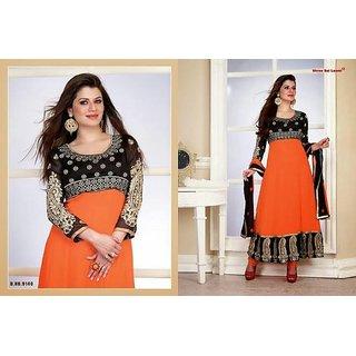 5838bdcdb4 semi stitched georgette anarkali black salwar at Best Prices - Shopclues  Online Shopping Store