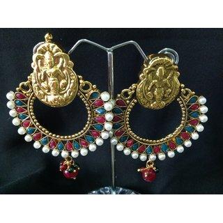 Kanchana Traditional Ram Leela Style Gold Finish Earring for Women