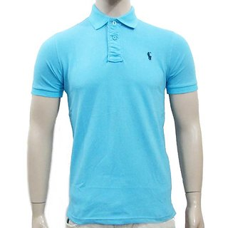 Buy ABS Men Blue Polo T-shirt Light Blue Online   ₹549 from ShopClues 58ed9b09ca